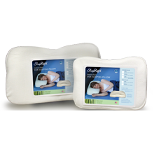Sleep soundly and comfortably whether you're at home or traveling with SleepRight's orthopedic side-sleeper pillow.
